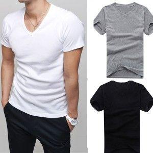2015-Men-clothes-t-shirt-high-elastic-cotton-mens-short-sleeve-v-neck-tight-shirt-male-T-shirt-Tee-L034808-0
