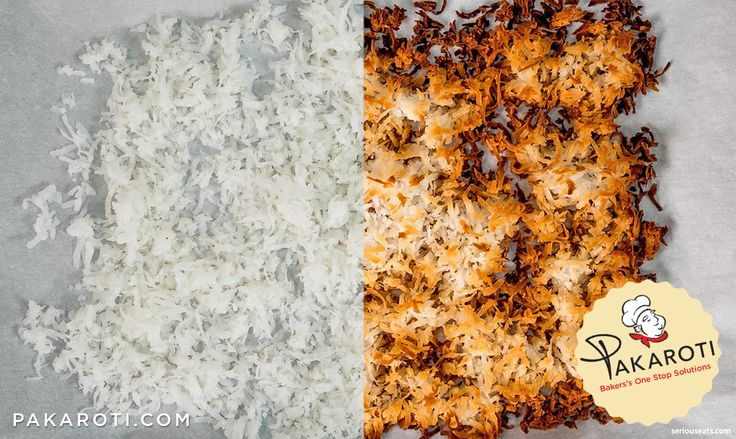 Coconut Flakes adalah salah satu alternatif bahan penutup atau dekorasi kue yang dibuat dengan memanggang parutan kelapa pada loyang datar hingga warnanya berubah sedikit kecokelatan. #InfoPakaroti
