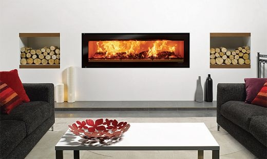 One day when we buid our dream home I'll have a woodfire like this as a room divider :)