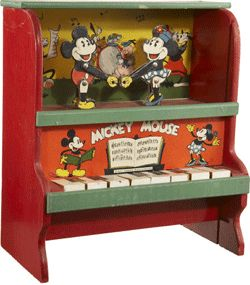 1930s Mickey Mouse Piano by Marks Brothers. Article: Disney's Most Magical Treasures