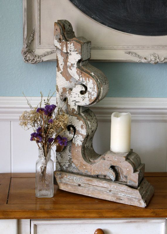 Antique Gingerbread Corbel Architectural Fragment
