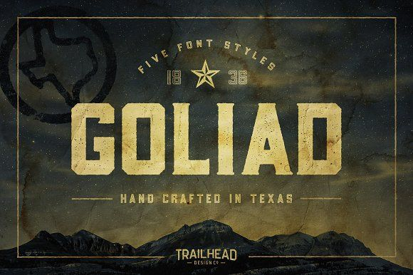 Goliad Font - 5 Styles by Trailhead Design Co. on @creativemarket