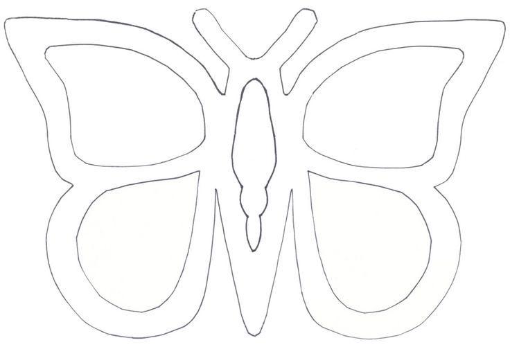 Schmetterling Vorlage Fensterbild 595 Malvorlage