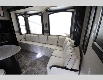 Another interesting floor plan for the... 2013 Heartland Road Warrior 415 Toy Hauler Fifth Wheel