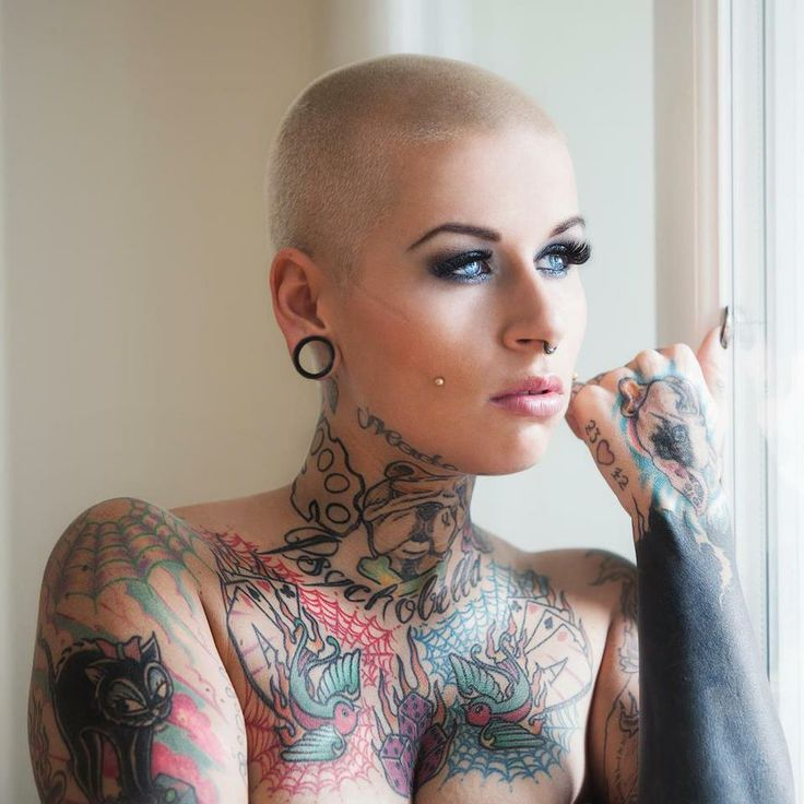 Platinum buzz cut hair pinterest models tattoo for Sex porn tattoo