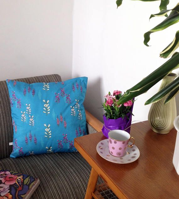 Handmade Foxglove love cushion cover foxgloves flowers