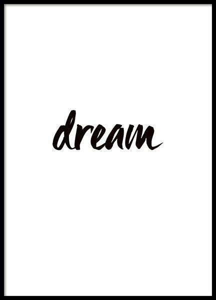 Dream, affiche dans le groupe Affiches / Formats / 13x18cm chez Desenio AB (8315)
