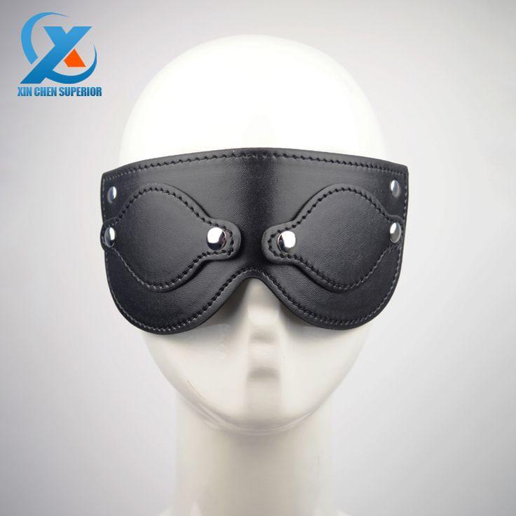 Черная маска из искусственной кожи, повязка на глаза из искусственной кожи для игр для взрослых, маска для вечеринки, сексуальная глухая маска для интима, фетиш шоры на глаза, маска для ролевых игр для взрослых