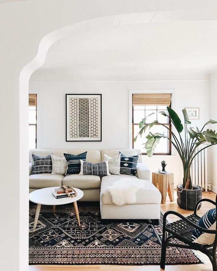 Living Room Decor + Living Room Design + Area Rug + Sectional Sofa