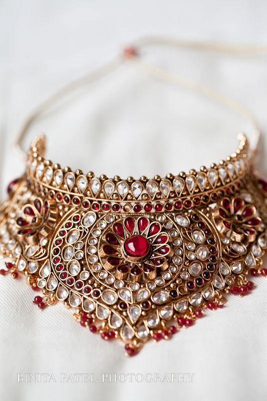 amazing bridal necklace, antique gold finish