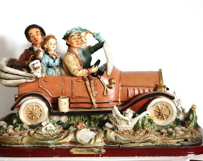 Car Figurine, Ceramic Figure, Figure Doll, Ceramic Automobile, Porcelain Car, Porcelain Auto, Baytex Collection