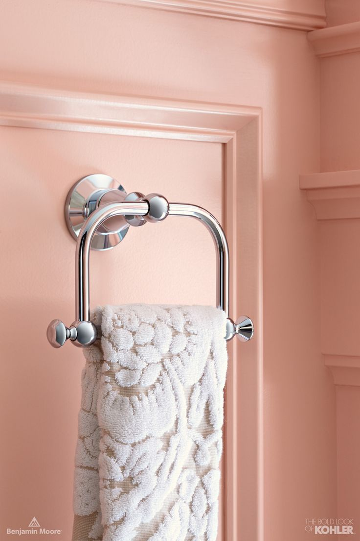 14 best simply spring bathroom images on pinterest bathroom the timeless appeal of this towel ring works beautifully with any colour palette pink bathroomsbathroom