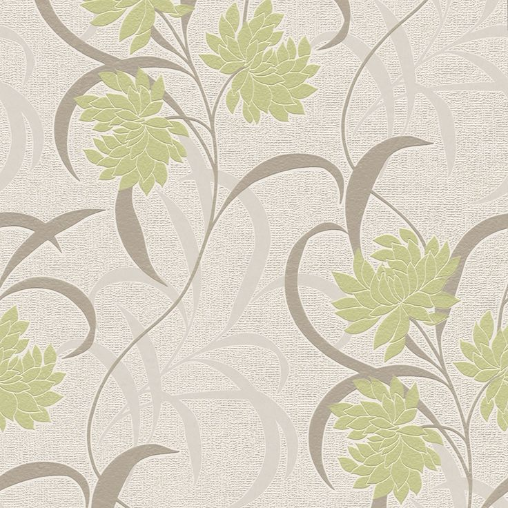 Rasch Textured Vinyl Wallcovering Camille Floral Trail