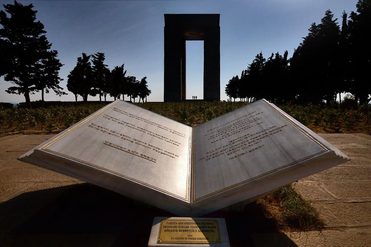 In memory of martyrs of Gallipoli - , Canakkale Turkey