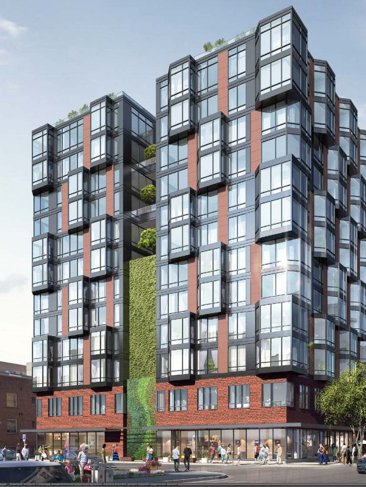 Chainqui Development of Taiwan is proposing to build this 12-story apartment  building at Third