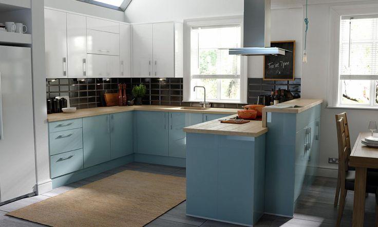 Image gallery esker azure for Kitchen 0 finance wickes