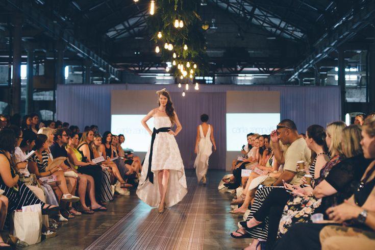 Carla Zampatti 'Grace' Dress & Missy Jacobs headpiece. One Fine Day Sydney Fair February 2014