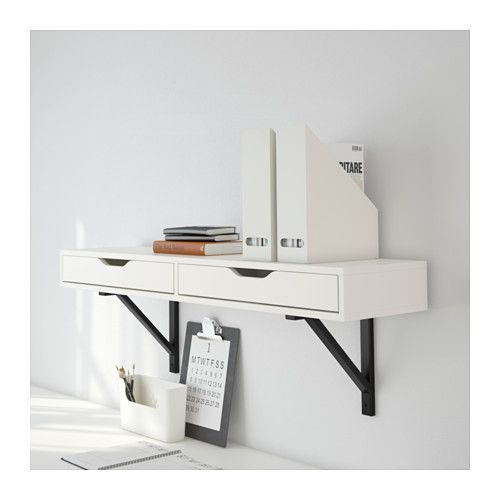 EKBY ALEX Shelf with drawers IKEA Drawer stops prevent the drawers from being pulled out too far.