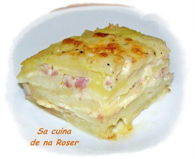 SA CUINA DE NA ROSER: Patatas aranesa en el microondas paso a paso.