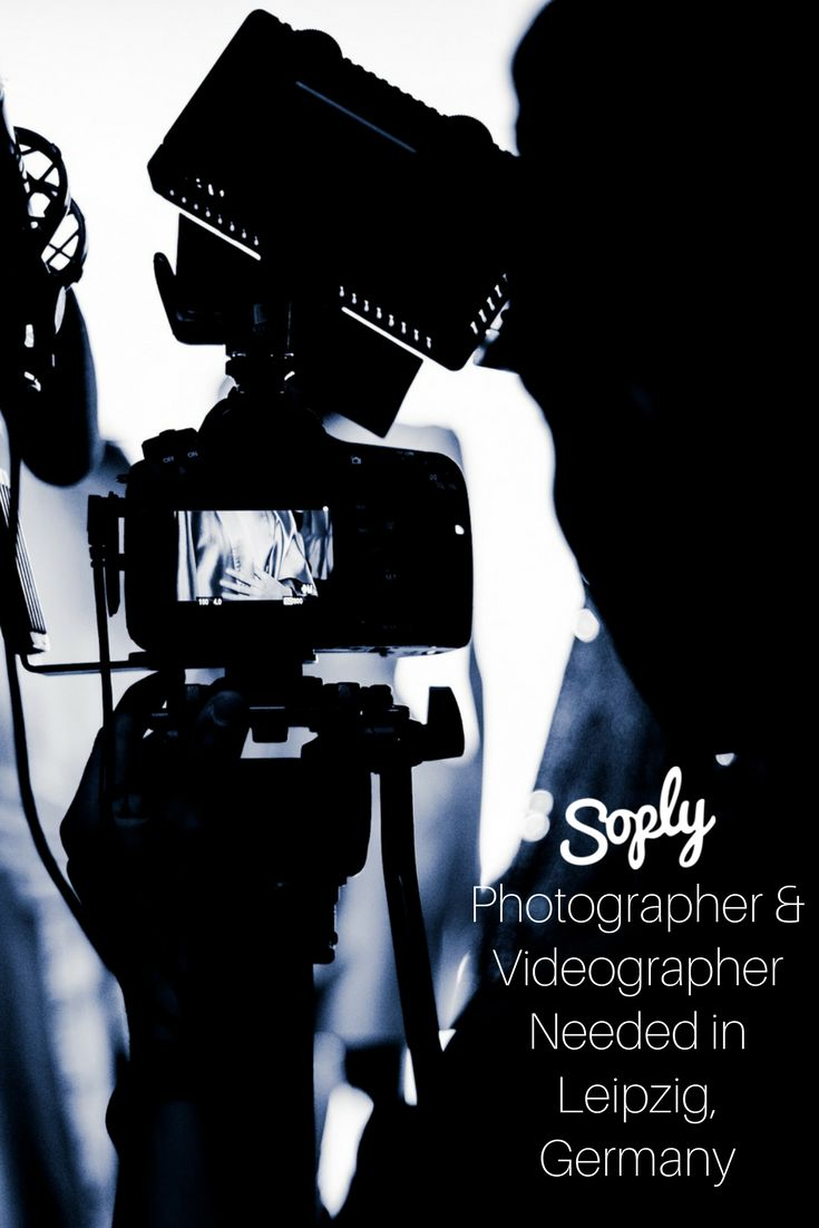 #Photographer & #videographer needed for an #interview in #Leipzig #Germany. See the #freelance job and apply by clicking the pin!