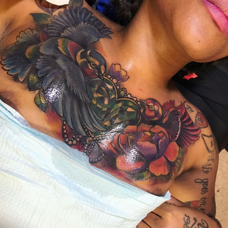 Blue Ink Tattoo Dark Skin