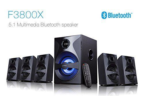 F&D F3800X 5.1 Speaker (Bluetooth, NFC, USB, SD card , Remote , FM , AUX)