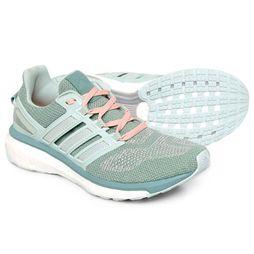 Tênis Adidas Energy Boost 3 Feminino - Verde Claro+Rosa