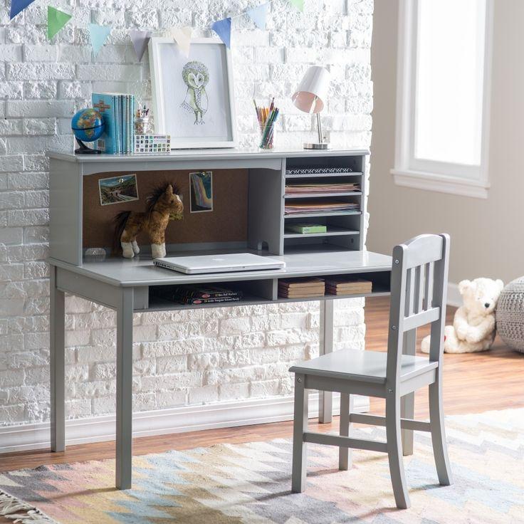 Guidecraft Media Desk Chair Set Gray Hayneedle In Desk And Chair Set Latest Trends Desk And Chair Set