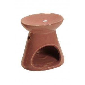 Quemador de aceite esencial y esencia de ceramica granate. Disponible en Gran Velada.
