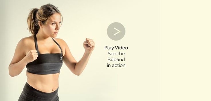 Play the video to see the Būband in action – with and without the Būband, the original athletic breast support band.