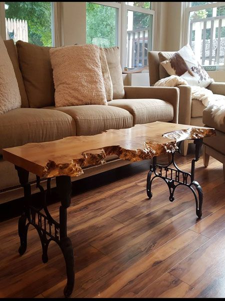 Big Leaf Maple Coffee Table Made By Our Customer Kevin Vinnicombe. Find  More Slabs To