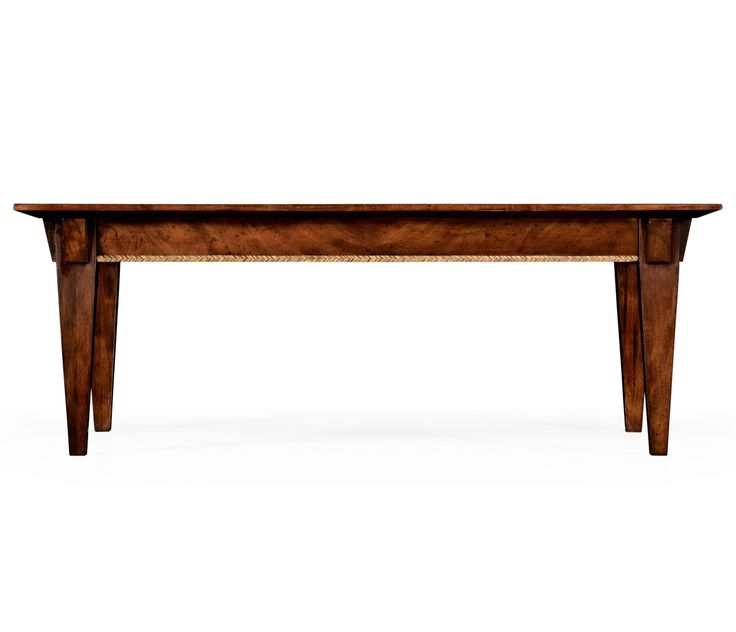 Jonathan Charles Craftsman's Mahogany Coffee Table with Herringbone Inlay Detail by Alexander Julian 494793