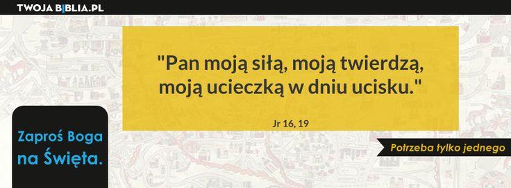 Pan moją siłą, moją twierdzą, moją ucieczką w dniu ucisku. Jr 16, 19