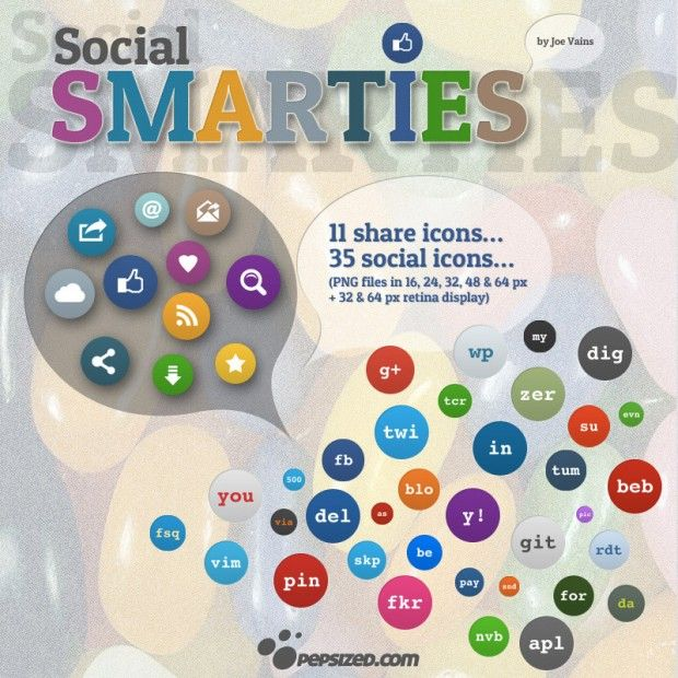 46 #Social Smarties #Icons,  #deviantART, #Facebook, #Free, #GooglePlus, #Graphic #Design, #Icon, #Linkedin, #Pinterest, #PNG, #Resource, #Media, #Twitter, #YouTube