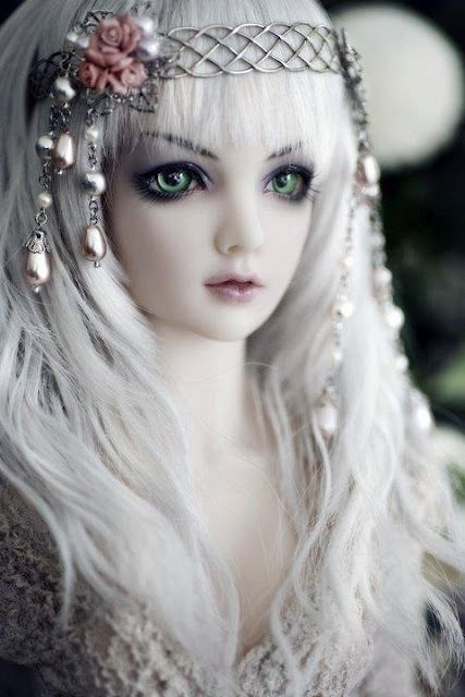 Enchanting white haired doll