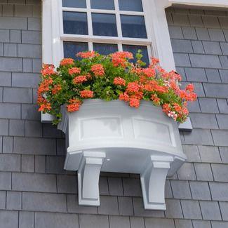 Nos gusta la combinación de colores. Perfecto! window boxes.