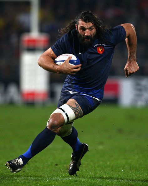 French rugby player Sebastien Chabal