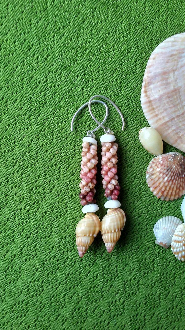 Shell Earrings -Rare Shells - Puka Shell Earrings - Natural Art -Eco Friendly Island Earrings- Authentic High Quality Kauai Shells