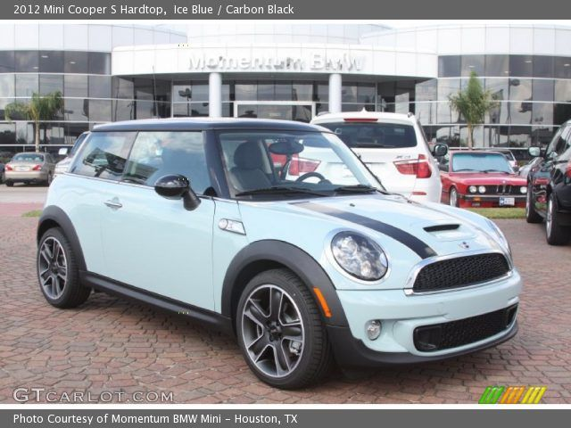 Ice Blue Mini Cooper | Ice Blue 2012 Mini Cooper S Hardtop with Carbon Black interior