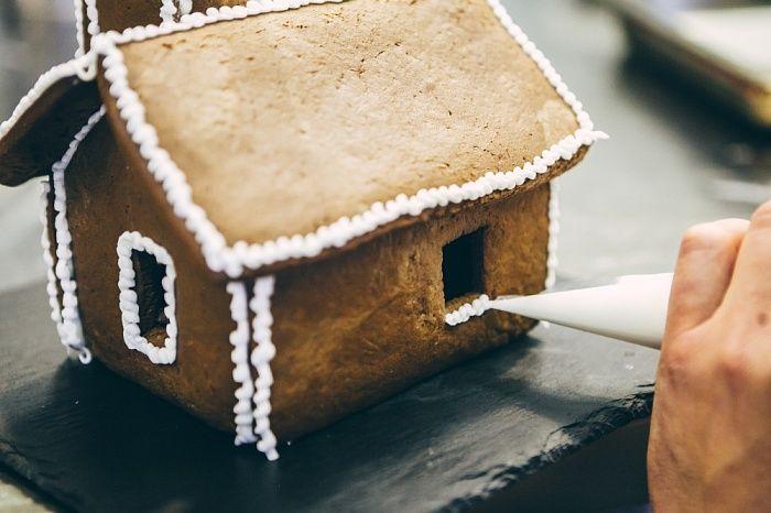 Пряничный домик - пошаговый рецепт приготовления с фото