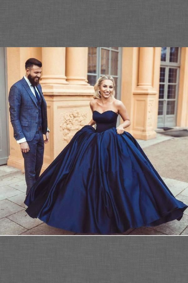 Wedding Dress Blue, Ball Gown Wedding