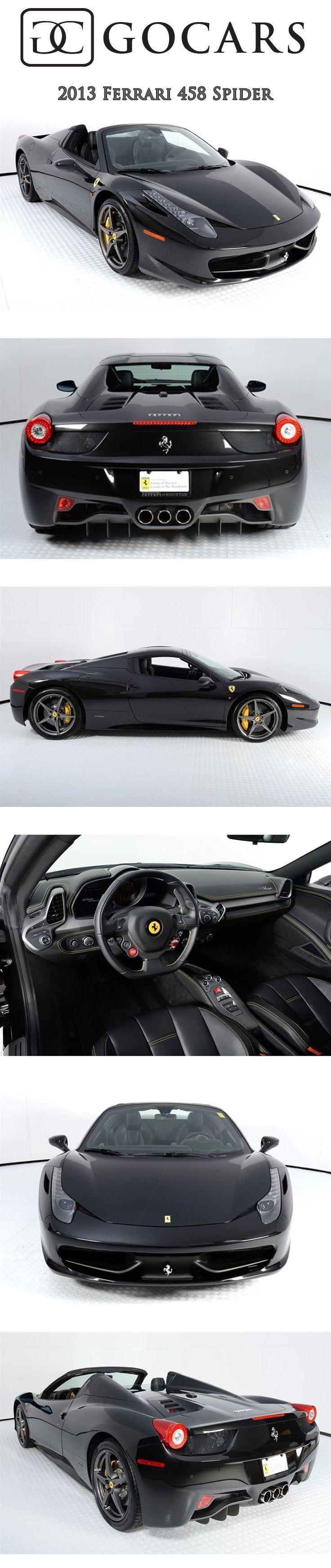 Cool Ferrari 2017: 2013 Ferrari 458 Spider on GoCars Nero Daytona Metallic Exterior #ferrari #ferra... Check more at http://24cars.top/2017/ferrari-2017-2013-ferrari-458-spider-on-gocars-nero-daytona-metallic-exterior-ferrari-ferra/