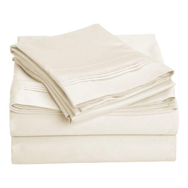 4-Piece 1000 Thread Count Egyptian Cotton Sheet Set & Reviews | Joss & Main