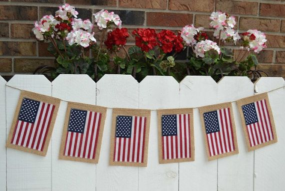 Hey, I found this really awesome Etsy listing at https://www.etsy.com/listing/151521614/patriotic-flag-banner-burlap-flag
