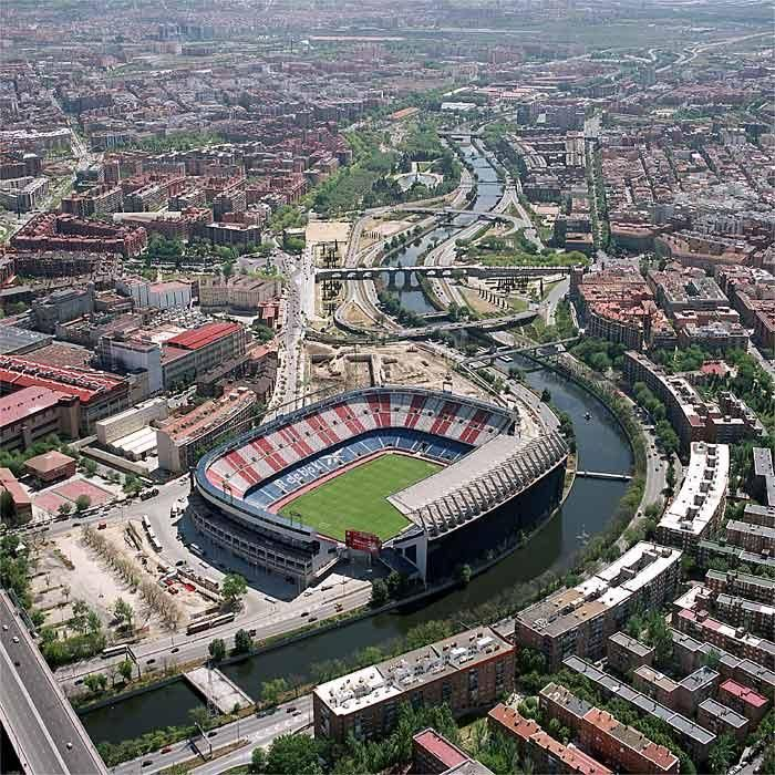 Stadium Vicente Calderon - Home of Atletico Madrid