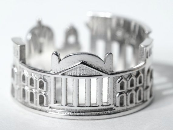 Berlin Cityscape  Skyline Statement Ring Size 5-13 by Shekhtwoman