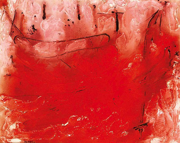 Τσίγκος Θάνος-Αφηρημένο κόκκινο, 1955 . Tsigos Thanos