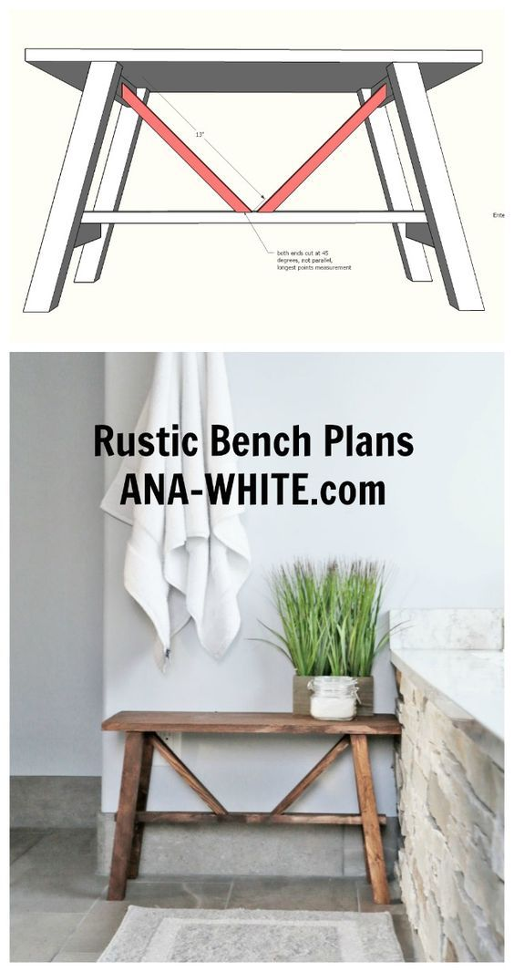 Ana White | Small Rustic Bench – DIY Projects