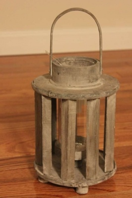 Distressed Wooden Lantern Small Candle www.homescapes-sd.com