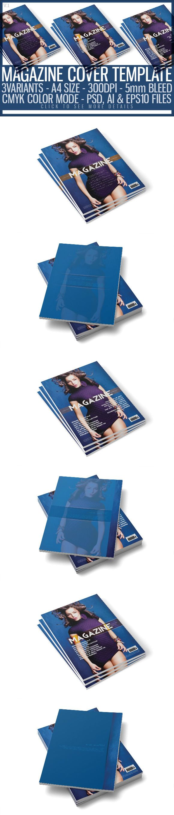 Magazine Cover Template 8 by @Graphicsauthor